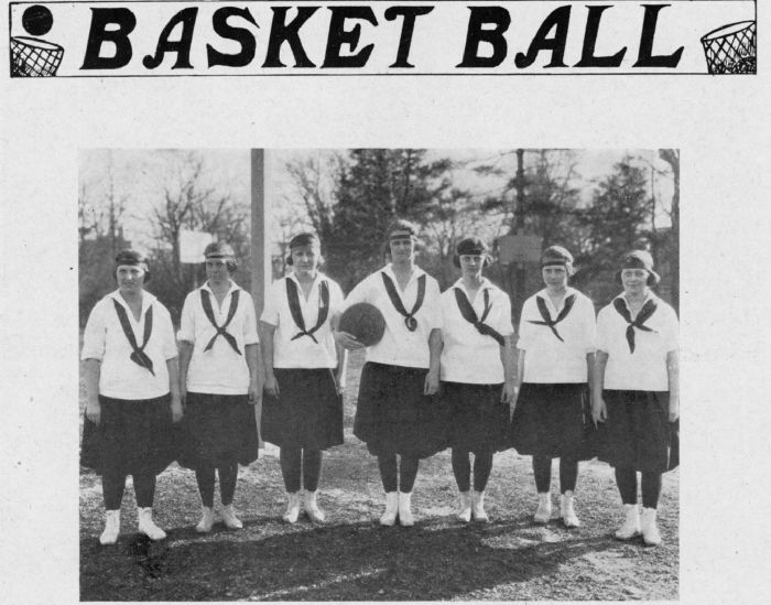 First Basketball Team,Douglass College (1922)
