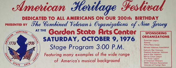 American heritage festival at the Garden States Arts Center, 1976