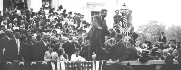 Theodore Roosevelt, Courthouse steps, May 27, 1912