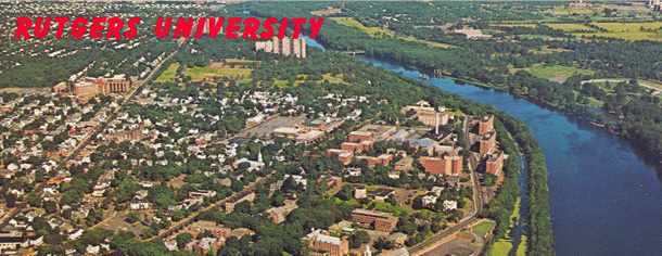 Rutgers, the State University, New Brunswick, New Jersey, 1976 (aerial view)