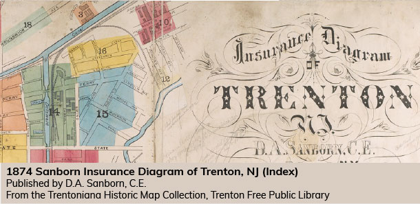 1974 Sanborn Insurance Diagram of Trenton, NJ