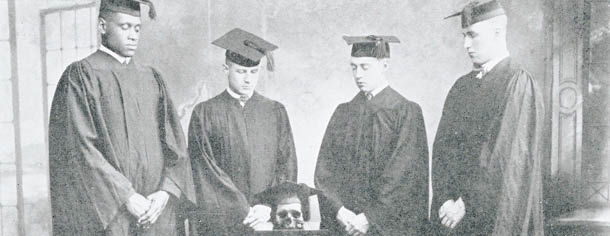 Cap and Siull Senior Society: Charles Henry Young Bellerjeau; William August Fetner; Joseph Breckley; Paul leRoy Robeson