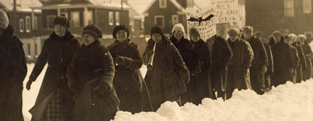 Marching through snow and sleet, 1926
